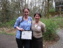 Shara Jones '10, who received the inaugural Outstanding Mentee Award (2009), and her mentor Jessi...