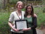Alexis Loretz '11 and her mentor Ashlee Albies '05, who received one of the 2009 First Year Partn...