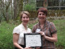 Maya Crawford '03, a recipient of a 2009 First Year Partnership Award, and her mentee Lindsey Bur...