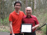 Michael Hsu '11 and his mentor, Trung Tu, a recipient of a 2009 First Year Partnership Award.