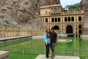 Anna Donnell and Raj Reddy in India, Summer 2015