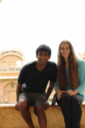 Raj Reddy & Anna Donnell in India