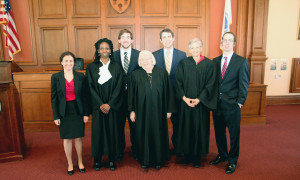 L&C Law Students Rachel Morris, Brian Buske, Gabe Hinman and Nathan Haynes with NALC federal ...
