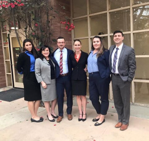 NALSA moot court team (Dayna Jones, coach Caroline Lobdell, Corin Aitchison, Mary Bodine, Anna Jo...