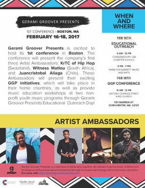 Gerami Groover Presents conference flyer