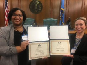 Michelle Stowers and Jessica Gordon at ABA National Client Counseling Competition