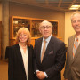 Dean Jennifer Johnson and President Wim Wiewel welcome Kenneth Feinberg to the Lewis & Clark ...