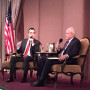 Ozan Varol and David McCraw at City Club's Friday Forum