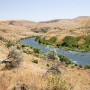 Deschutes River surrounded by eastern Oregon desert hills
