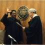 The swearing in of Judge Aaron Brown