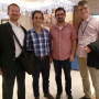 Prof. Wold with alums at Western Fisheries mtg Manila; l- r: Bubba Cook, '03; Viv Fernandes, LL...