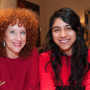 Susannah White, Tasha's mother, with  Jesenya Maldonado '15, first recipient of the Natasha C. Pr...