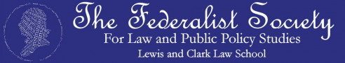 Federalist society banner