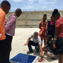 Learning about solar technology in Port-au-Prince, Haiti