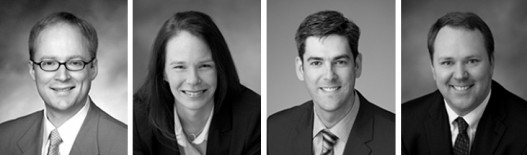 FROM LEFT TO RIGHT: THE ATTORNEYS WHO SERVED Erick J. Haynie, Partner - Commercial Litigation  Kristina J. Holm, Counsel - Commercial Litigation  Nathan R. Christensen, Associate - Commercial Litigation  Bryan D. Beel, Ph.D.,  Associate - Commercial Litigation /Patent Litigation
