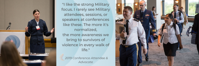 "Conference Attendee quote: ""I like the strong Military focus. I rarely see Military attendee..."