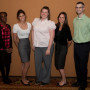 Five of NCVLI's Conference Volunteers (from left): Fumi Owoso, Jacqueline Swanson, Sarah Hays, Sa...