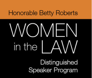 Honorable Betty Roberts 2016 Women in the Law panel