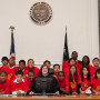 The Law School's annual Summer Law Camp for disadvantaged youth culminates in a mock trial at M...