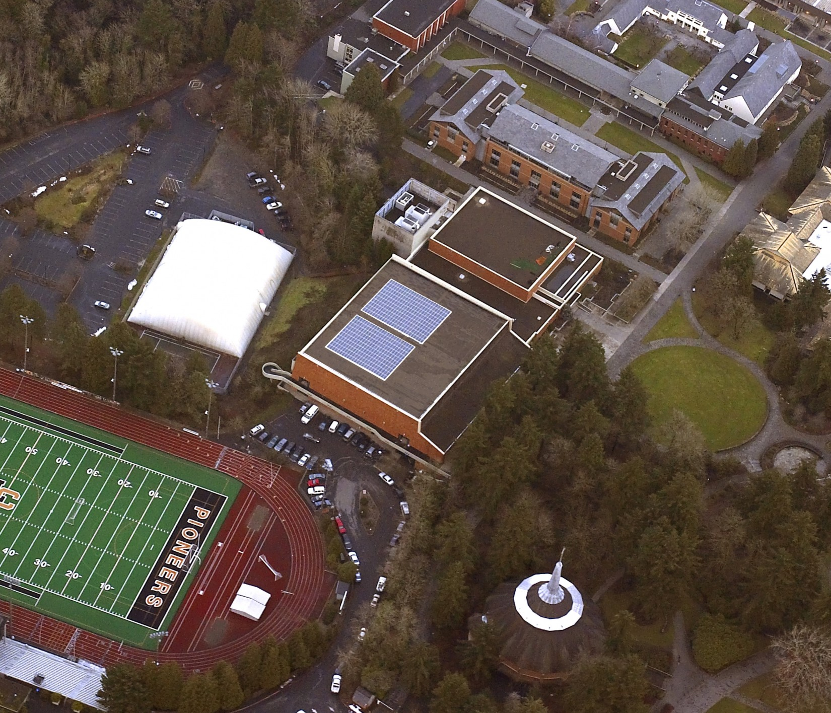 Lewis & Clark is partnering with Honeywell International, a technology and manufacturing company, to supply the campus sports facility with solar power.