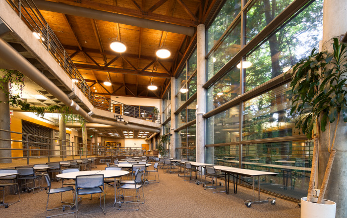 The student lounge as an event space. The vast student lounge often doubles as an event space whe...