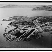 At its peak in the 1940s, the Hunters Point Naval Shipyard employed up to 17,000 people.   Photo:...