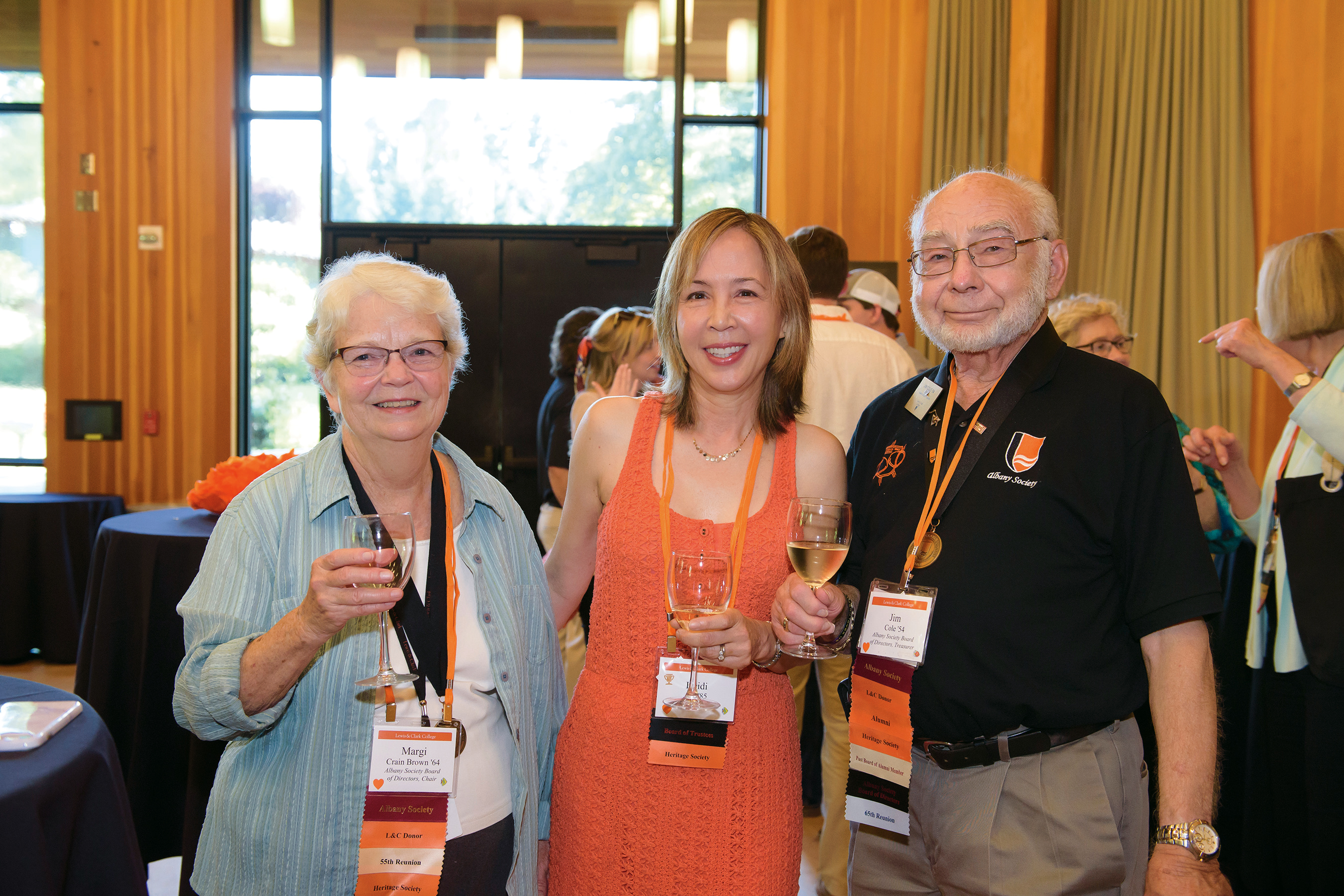 1 Leslie Phillips and Bob Phillips BS '72, MAT '86. 2 Mary Devlin BS '68, MAT '71 and Vic...