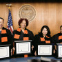 From left: Judge Ulanda Watkins, Judge Patricia McGuire, Judge Xiomara Torres, Judge Fay Stetz-Waters