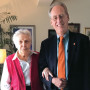 Hester Turner and President Wim Wiewel