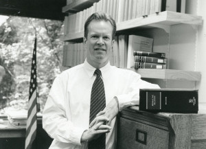 Jack Bogdanski with his first tax treatise when it was published in 1996.