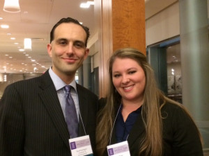Sarah Butler and David Rosengard at the 2015 National Animal Law Competitions