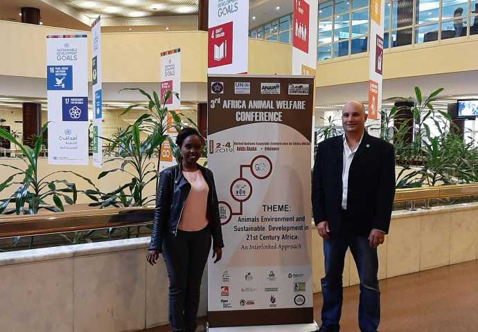Judy and Tony at 3rd Africa Animal Welfare Conference