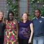 Kenyan Magistrates Linda Kosgei and Eugene Kadima with CALS at the conclusion of their Internatio...