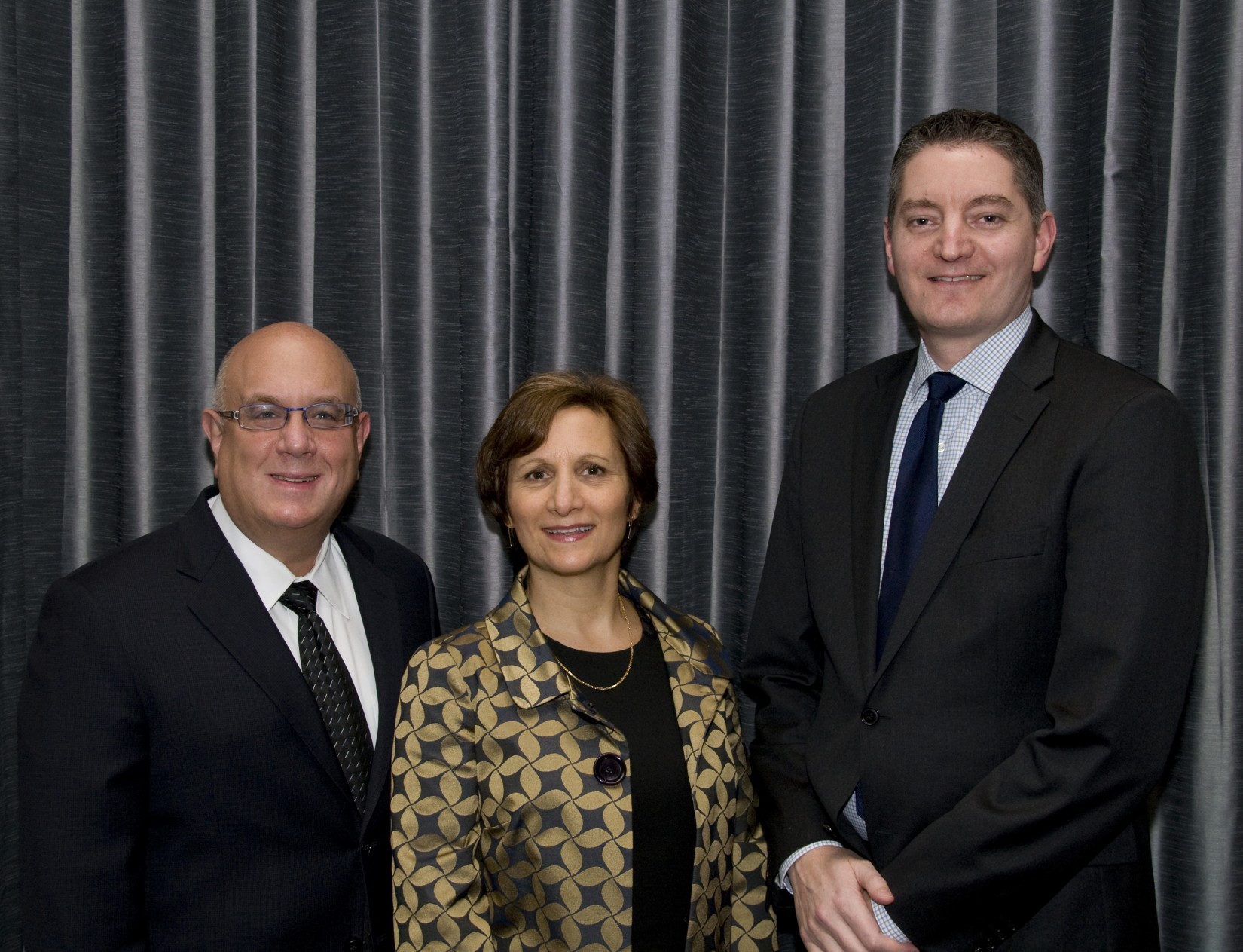 The Hon. Michael H. Simon, U.S. Rep. Suzanne Bonamici, and Alumni Board Vice President Dan Eller '04.