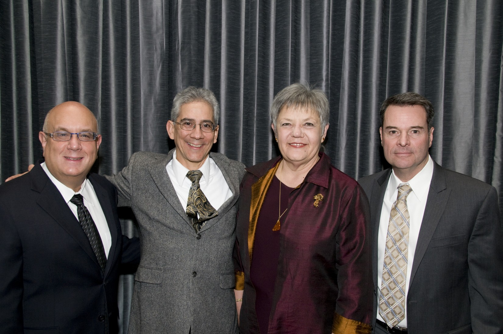 The Hon. Michael H. Simon, the Hon. Marco Hernandez, the Hon. Anna Brown '80, and the Hon. Michael McShane '88.