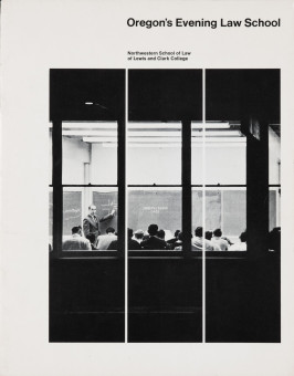 Northwestern School of Law of Lewis & Clark College brochure, ca. 1966