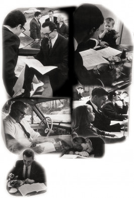 Night students study between classes, mid-day jobs, family, meals, commute, and sleep in the 1960s.