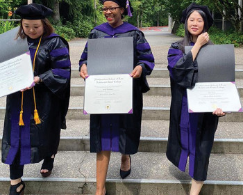 Animal law LLM graduates Lyudmila Shegay, Gladys Kamasanyu, and Yiran Zhang