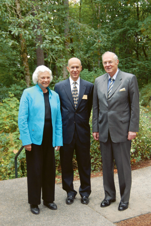 U.S. Justices O'Connor and Kennedy with Dean Robert Klonoff (center)