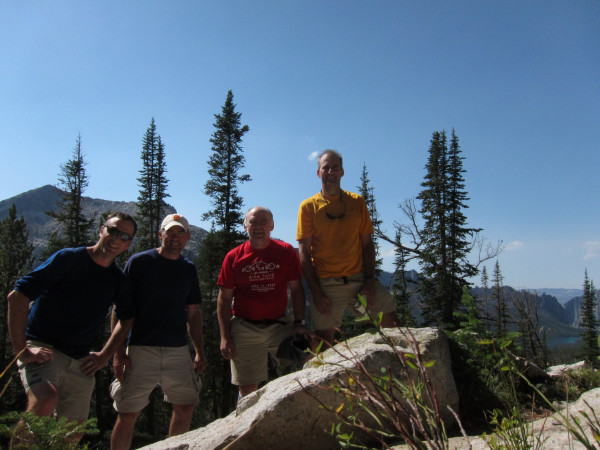 Matt Love '95, Tim McNeil '95, Charlie Honsinger '95, and Brad Grenham '95 enjoyed Idaho'...