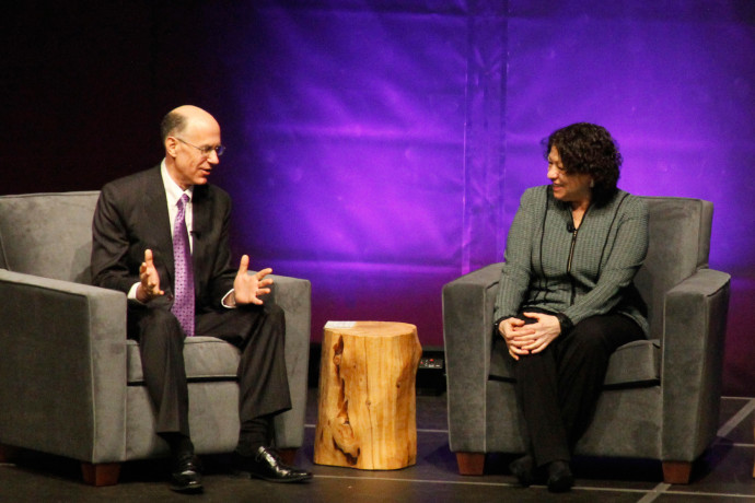 Dean Robert Klonoff and U.S. Supreme Court Justice Sonia Sotomayor.