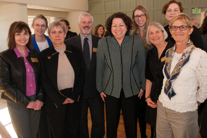 Faculty members join U.S. Supreme Court Justice Sonia Sotomayor for breakfast and conversation.