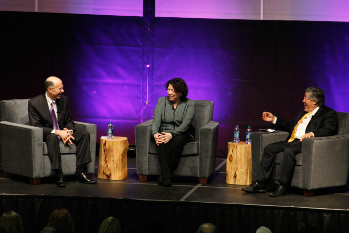 Dean Robert Klonoff, U.S. Supreme Court Justice Sonia Sotomayor, and White & Case senior part...