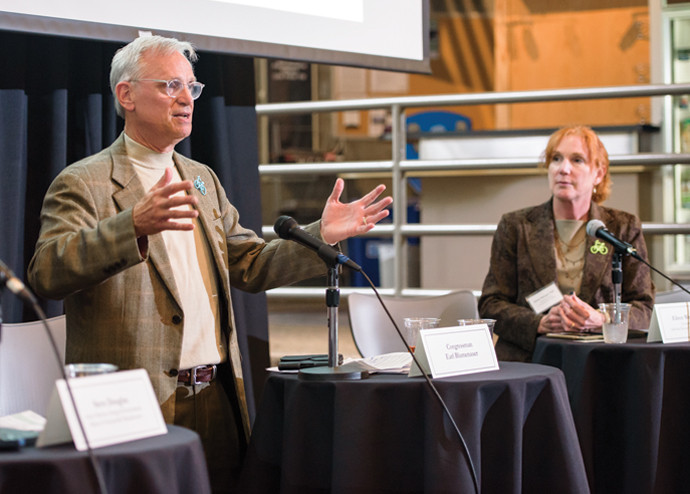 U.S. Representative Earl Blumenauer BA '70, JD ?76 speaks on the West?s Low-Carbon Transportation...