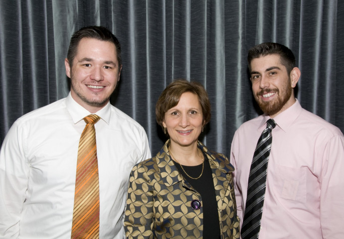 Jacob Howa-Morrow, U.S. Rep. Suzanne Bonamici, and Recent Graduate Council member Jackson Howa-Mo...