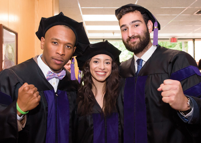 Lawrence Pittman '18, Lizeth Marin '18, and Vartan Badalian '18