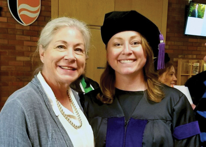 Emily Fullerton with her mother, Sue Ann Baker.