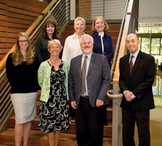 The faculty of the Lawyering Program. Top row, from left: Sandy Patrick, Judith Miller ?81, and A...