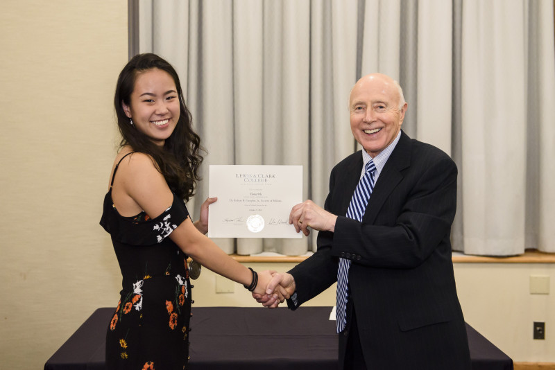 Tiona Wu '22 and Dr. Pamplin