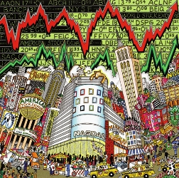 stock market art